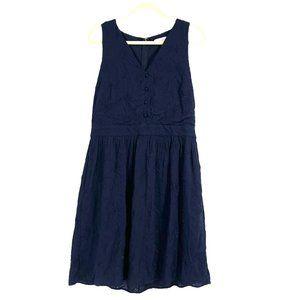 LOFT summer dress Navy sleeveless size 10